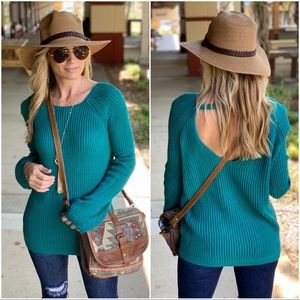 ✨LAST ONE✨Teal ribbed knit sweater
